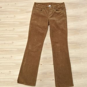 J. Crew Favorite Fit Tan Corduroy Pants